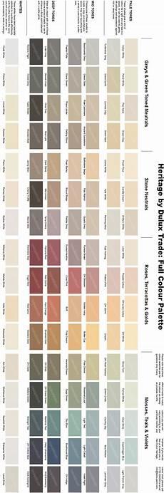 Heritage Paint Colour Chart Dulux Heritage Colour Chart Full Range Of 112 Colours