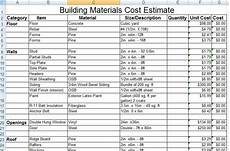 Sample Estimate For House Construction Download Construction Building Materials Cost Estimate