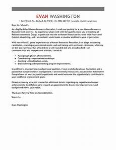 Sample Letter To Recruiter For Job Best Recruiting And Employment Cover Letter Examples
