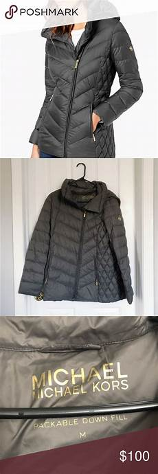 michael kors m asymmetrical puffer coat with images