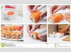 Making Sushi Roll Collage Stock Image   Image: 34670891