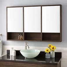 48 quot bastian teak medicine cabinet rustic brown bathroom
