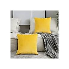 homescapes 100 cotton plain yellow cushion cover 45 x 45