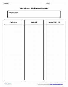 Two Column Template Word W 7 2 Explanatory Writing Writing 7th Grade Goalbook