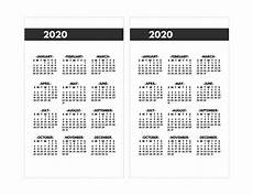 2020 Year At A Glance Calendar 2020 Printable One Page Year At A Glance Calendar Paper