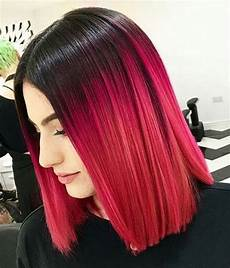 Black To Light Pink Ombre Hair Best Ombre Hairstyles Red Black And Brown Hair