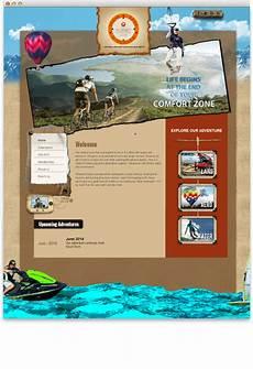 Adventure Web Design Planet Adventure Club Website Design Portfolio Web