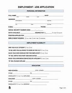 Pdf Job Application Free Job Application Form Standard Template Pdf Word