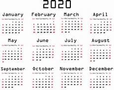 One Page Yearly Calendar 2020 優雅 2020 1 Page Calendar Pdf ジャトガヤマ