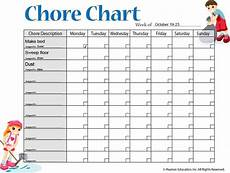 Make Your Own Chart Online For Free Free 6 Chore Chart Template Printable For Kids Excel Word