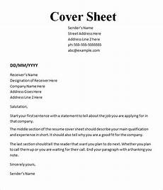 Example Cover Page For Resume 10 Cover Sheet Templates Sample Templates