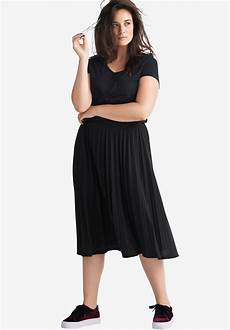 pleated knit skirt by ellos 174 plus size skirts