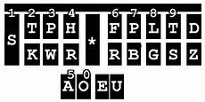 Steno Machine Keyboard Chart Stenotype Machine
