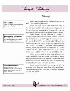 Example Obituary 25 Obituary Templates And Samples Template Lab