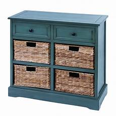 wicker 4 basket cabinet free shipping today overstock