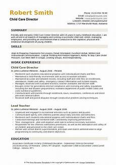 Resume For Child Care Director Child Care Director Resume Samples Qwikresume