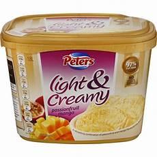 Peters Light And Creamy Vanilla Slices Peters Light Amp Creamy Ice Cream Passionfruit Amp Mango 1 8l