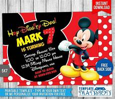 Mickey Mouse Party Invitations Free Mickey Mouse Birthday Invitation 4 By Templatemansion On