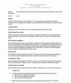 Sample Minutes Writing Samples Barry Ellis Interactive Resume