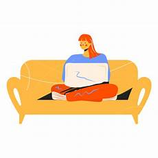 Sofa Laptop Png Image by With Computer Character Transparent Png Svg