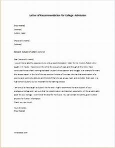 Letter Of Recommendation College Admission Letter Of Recommendation For College Admission