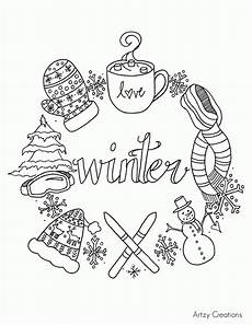 free printable coloring pages of winter coloring home