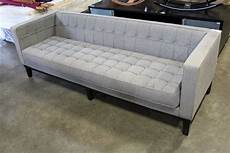 5 Ft Sofa 3d Image by Modern Club Style Grey Fabric 7 5 Foot Sofa