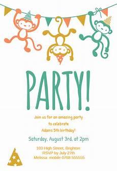 Birthday Invitations For Kids Childrens Party Birthday Invitation Template Free