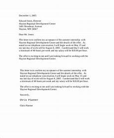 Accept Offer Letter Free 7 Sample Offer Acceptance Letter Templates In Pdf