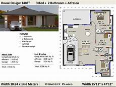 140 m2 1506 sq foot 3 bedroom house plan 140st etsy