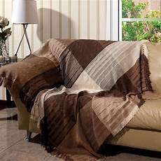 manta para sof 225 artesanal trieste 150x140 cm tabaco