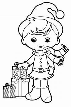 kostenlose malvorlage weihnachten weihnachtself zum ausmalen