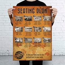 Travel Seating Chart Travel Vintage Themed Wedding Seating Table Plan By Magik