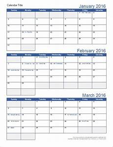 Calendar Template 3 Months Per Page Download A Free Printable Quarterly Calendar Template For
