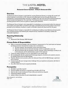 Resume For Restaurant Job Unique Restaurant Responsibilities Resume 19 Premium