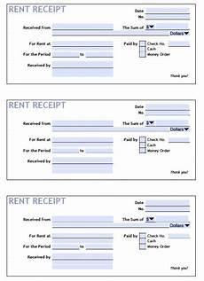 rent receipt template printable rent receipt templates pdf word
