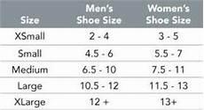 Cam Size Chart Cam Walker Boot Liner Foam
