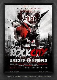 Concert Flyer Psd Rock City Concert Flyer Poster By Fadeink Graphicriver