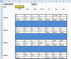 Shift Roster Format Excel Shift Work Roster Exporting To Google Calendar Or