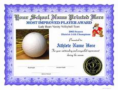Volleyball Certificate Templates Volleyball Certificates