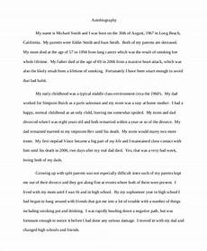 Autobiography Writing Template 8 Autobiography Examples Pdf Doc Free Amp Premium