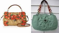 crochet bolsos bolsos y carteras tejidas en crochet y dos agujas