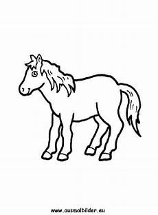 ausmalbilder pony pferde malvorlagen