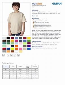 Gildan Youth Medium Size Chart Gildan Ultra Cotton Youth T Shirt 2000b 3 61 Youth