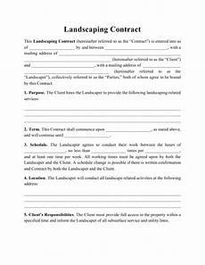 Free Landscaping Contract Forms Landscaping Contract Template Download Printable Pdf