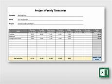 Project Timesheet Simple Weekly Project Timesheet Form