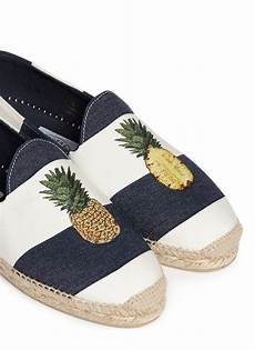 lyst stubbs wootton pineapple embroidery stripe canvas