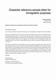 Immigration Recommendation Letter Sample 36 Free Immigration Letters Character Reference Letters