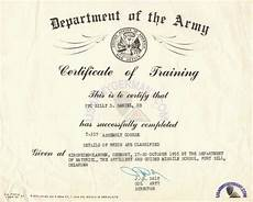 Army Certificates Of Training Usareur Units 30th Arty Gp