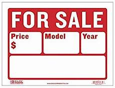 For Sale Car Sign Template Amazon Com Bazic 12 Quot X 16 Quot For Sale Sign For Car And